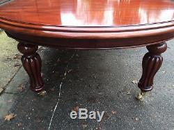 Dessus En Verre Grand Style Victorien Table En Acajou De Style Régence Poli Français