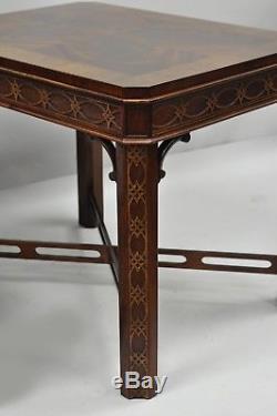 Drexel Heritage Chinese Chippendale Flamme En Acajou Lampe Bout De Table Une Paire