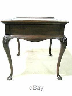 Drexel Heritage Style Chippendale End Table Acajou Et Ronce Bois Placages
