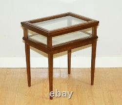 Edouardian Style Rectangulaire Ahogany Bijouterie Inlaid Table De Lampes Latérales
