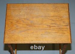 Edwardian Oak Canette Turned End Leg English Side Lampe De Vin De Table Simple Et Agréable