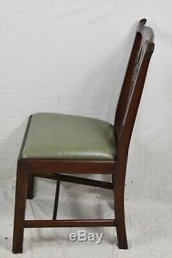 Ensemble De 6 Chaises De Style Henkel Harris De Style Chippendale, Modèle 101 S # 29, Fini