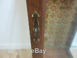 Etagère D'armoire Curio Vintage Pine Chippendale Slender, Lampe De Table D'extrémité