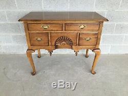 Ethan Allen 1776 Autour De Style Chippendale 5 Finition Tiroir Lowboy (18-9001) (218)