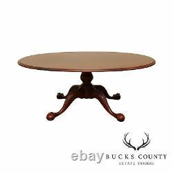 Ethan Allen 18ème Siècle Ahogany Chippendale Style Table De Café Ovale