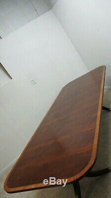 Ethan Allen Newport Fasciée Salle À Manger Salle De Conférence Table Acajou Chippendale