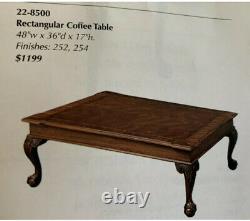 Ethan Allen Table Basse En Acajou Du Xviiie Siècle 48 W X 36 D X 17 H