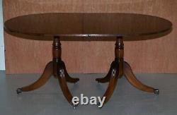 Extension Tilt Top Ovale Table À Manger Dans La Régence De Style En Acajou Massif Castors