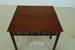 F32201ec Chippendale Jeux D'acajou Solide Table Peut-être Bartley