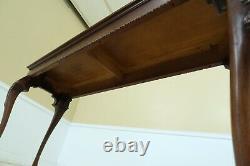 F32538ec Henredon Walnut Sofa Console Table W. Paw Feet