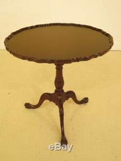 F44666ec Baker Table Tilt Top Acajou Sur Pied Sur Pied Acajou