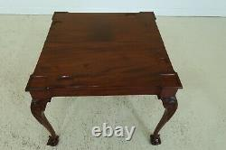F49332ec Vintage Haute Qualité Chippendale Style Ball & Claw Games Table