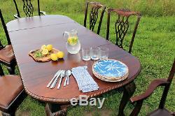 Fabuleux Antique Chippendale Acajou Massif Salle À Manger Table C1900 Du Pays De Galles