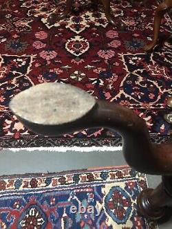 Fourmi. 18ème Siècle Philadelphia Mahog Birdcage Queen Anne Dish Top Table De Thé C1770