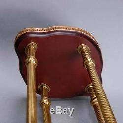 Français Chinois Style Chippendale Bronze Et Chinoiserie Porclain Table