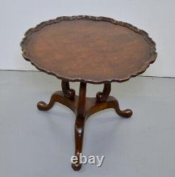 Georgian Revivial Burr-walnut Occasional / Café Table/ Table De Lampe