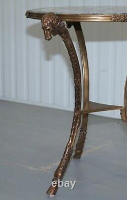 Giacomo Raffaelli Pietra Dura Louis XVI Tables En Marbre De Gueridon En Bronze