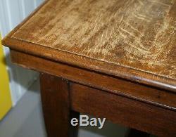 Grand Chêne Réfectoire Scrub Irlandais Table Avec Twin Brancards Circa 1840 Salle
