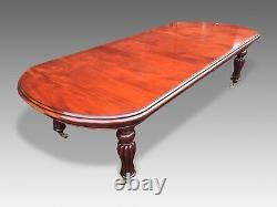 Grand Victorian Regency Style Ahogany Table Pro Poli Français