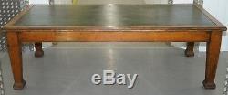 Grande Table De Salle À Manger De Bibliothèque De Réfectoires En Chêne Massif Datant Des Années 1900, Jolies Jambes Épaisses