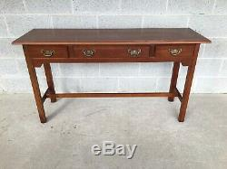 Harden Furniture Cerisier Massif Chippendale Style 3 Console Tiroir Table