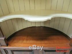 Harden Furniture Plymouth Shell Sculpté D'angle Vitrine Hutch Étagère