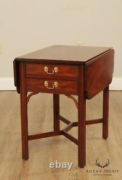 Henkel Harris Chippendale Style Paire De Tables De Pembroke Feuille De Drop Acajou