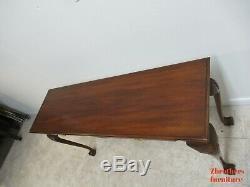 Henkel Harris Mahogany Chippendale Boule Claw Canapé Foyer De La Salle Table