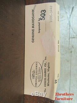 Henkel Harris Mahogany Chippendale Café Desserte Boule Griffe