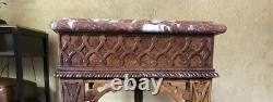 Henredon 4192427 Chippendale Sofa Console Hall Table 57 X 16.25 X 27,5 Tall