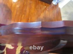 Hickory Chair Solid Mahogany Pie Crust Tilt Top Tableau 30 Diamètre