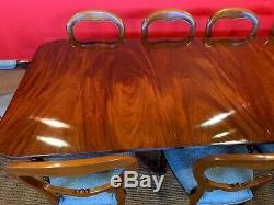 Incroyable George III Cuban Style Acajou Table Professionnellement Français Poli