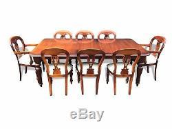 Incroyable Regency Style Brésilien Mahogany Table Professionnellement Français Poli
