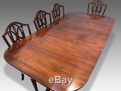 Incroyable Table Antique George III En Acajou Cubaine Professionnellement Polie Française