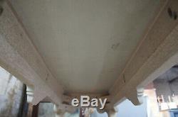 Irish Chippendale 61 Console Sofa Table Ball & Claw Festonnée Moderne Chic Blanc