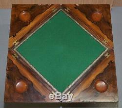 Jeux Acajou Victorien Enveloppe Rosewood Table Circa 1880 Unfolds Prolonge
