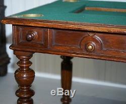 Jeux Rares Victorienne Table Circa 1840 Goutte Moyen Tiroirs Secrets Et Boutons
