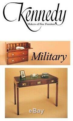 Kennedy Meubles Harrods Acajou Cuir Campagne Militaire D'écriture Table Bureau