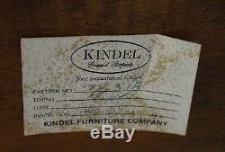 Kindel Chinois Chippendale Mahogany Canné Stand Usine