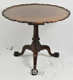 Kindel Winterthur Chippendale Mahogany Piecrust Tea Table Claw & Ball