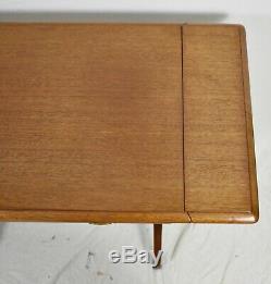 Kittinger Chippendale Mahogany Abattants Table Pembroke Table Bamboo Style De Base
