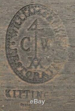 Kittinger Colonial Williamsburg Acajou Type De Table Paire Demilune Tables Cw 34