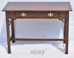 Kittinger Colonial Williamsburg Ahogany Chippendale Style Bureau Ou Table Wa 1004