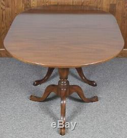 Kittinger Williamsburg Acajou Double Pedestal Table À Manger 2 Feuilles