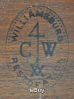 Kittinger Williamsburg Chippendale Table Acajou Avec Dessus En Acajou Cw 70 Claw & Ball