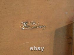 Kittinger Williamsburg Cw-66 Triple Pedestal Table De Banquet À Manger Avec Deux Feuilles