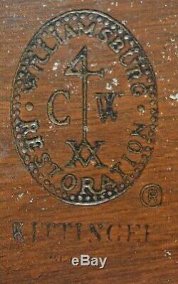 Kittinger Williamsburg Mahogany Cinq Pedestal Table À Manger Cw 65/66 4 Feuilles