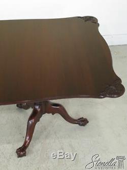 L24429ec Henkel Harris Boule -n- Claw Sculpté Acajou Table À Manger