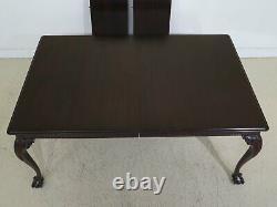 L47237ec Stickley Clawfoot Ahogany Table De Salle À Manger