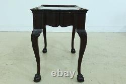 L49155ec Paire De Tables De Thé De Qualité Fine Newport Ahogany